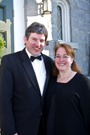 Sean Fleming, organist/ accompanist and his wife Linda Blanchard, director of St. Cecilia.